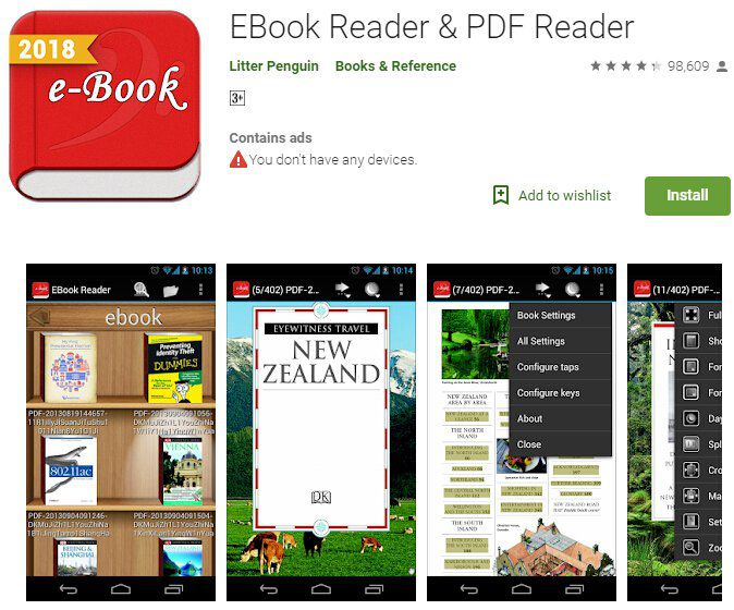epub zu pdf converter android