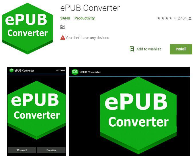 epub zu pdf android