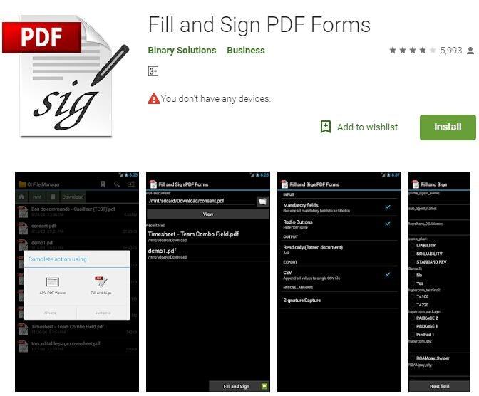 compilare moduli pdf su android