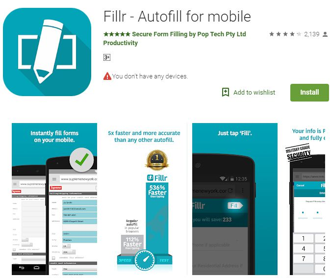app per compilare moduli con android