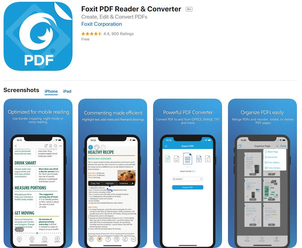 convert pdf to word iphone