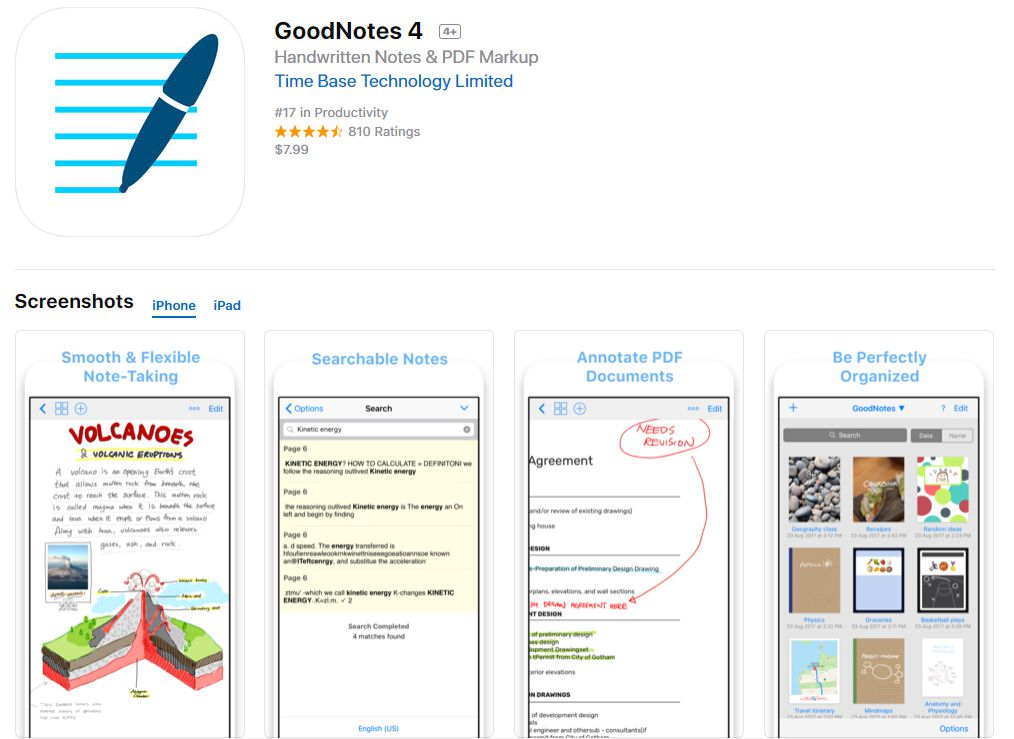 GoodNotes fill out pdf on iphone