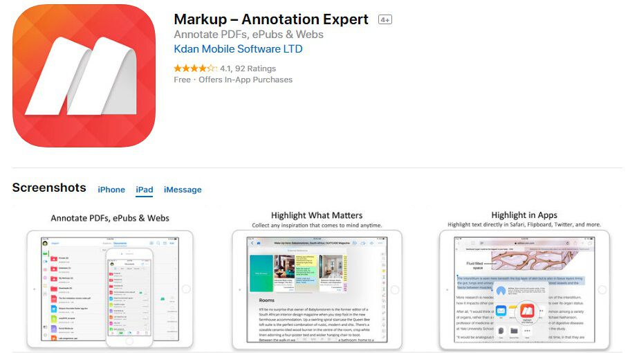 ipad pro pdf markup