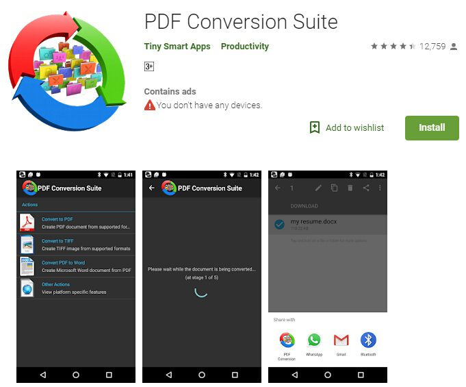 app to convert pdf to word for android
