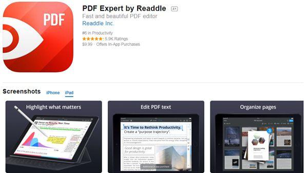 Machen Sie sich Notizen auf pdf ipad