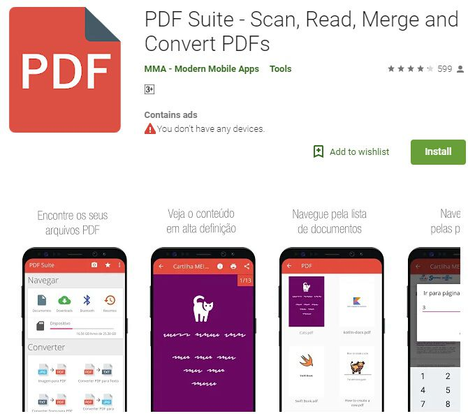 Android-Text zu PDF