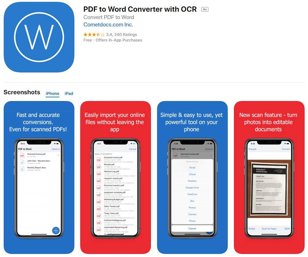 pdf para word ipad