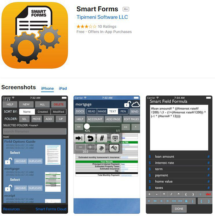 Smart Forms fill out pdf on iphone
