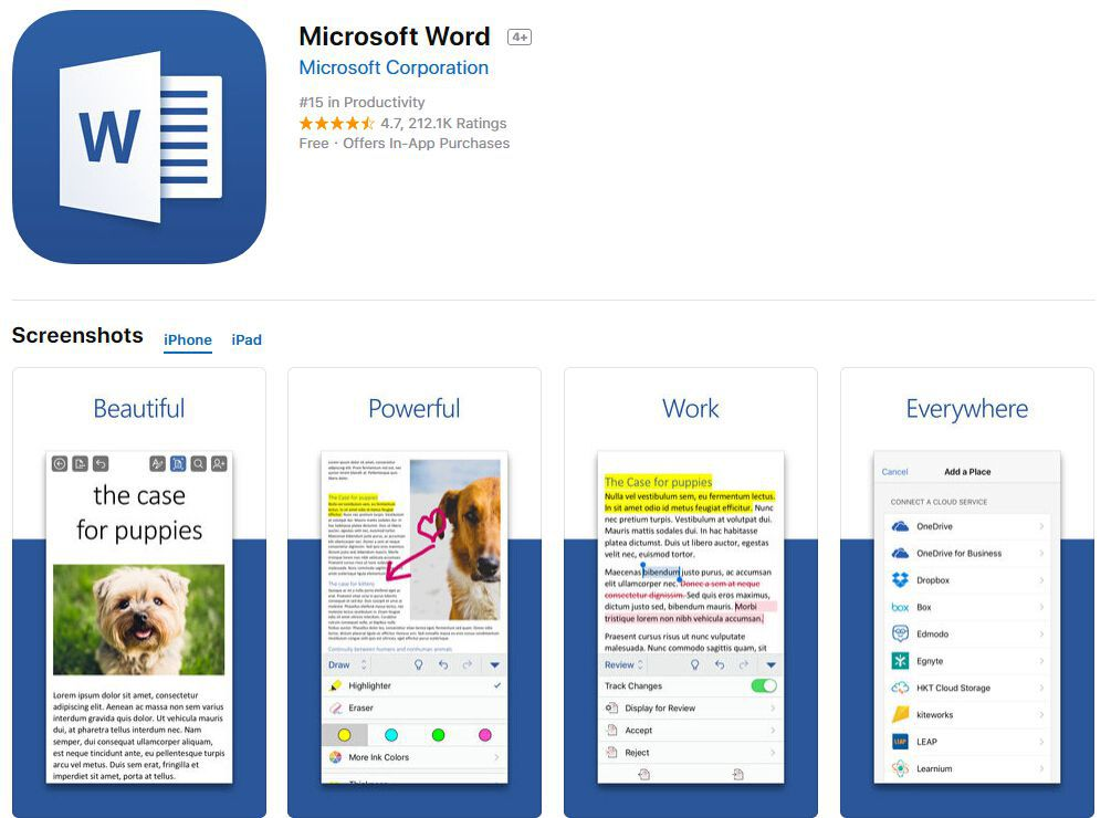 convertir word a pdf en iphone
