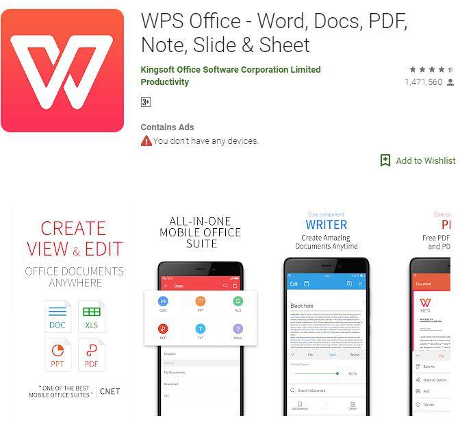 Wie konvertiert man ein Word-Dokument auf einem Android-Gerät in ein PDF-Dokument?