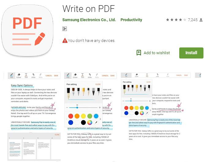how to edit a pdf file android