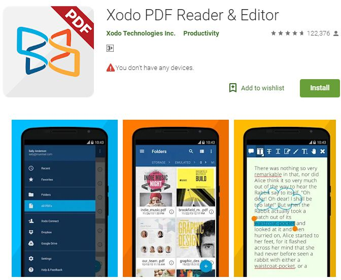 preencher pdf no android