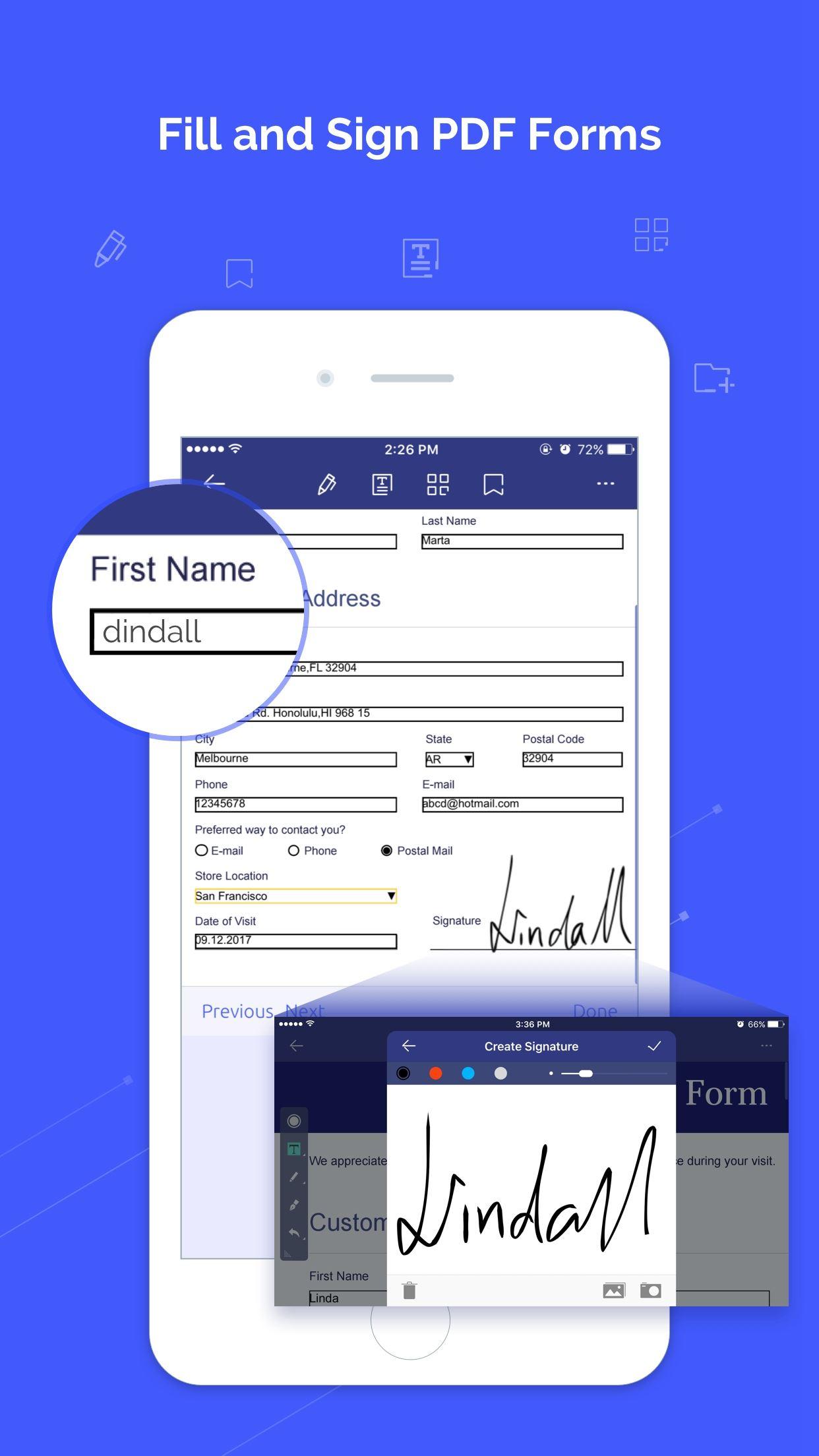 PDFelement compila pdf su iphone