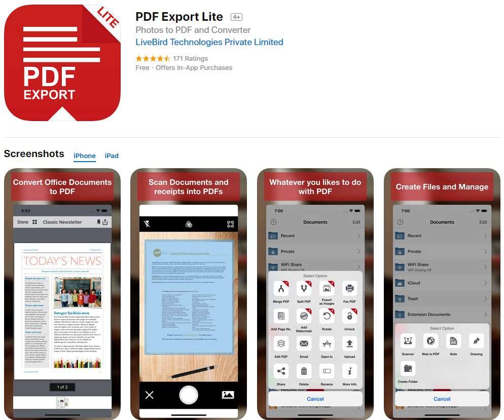 конвертировать pdf в jpg iphone