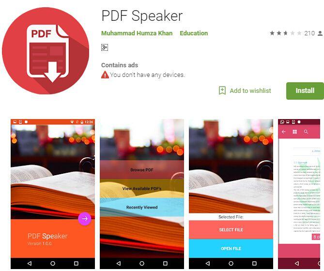 scarica gratis app da pdf a parlato
