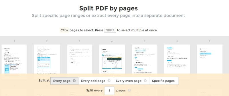 Split and Merge PDF Online