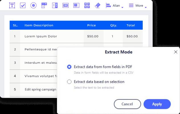Gérer et extraire les données des formulaires PDF