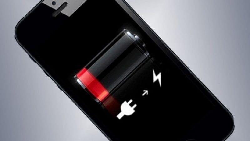 esgotamento da bateria