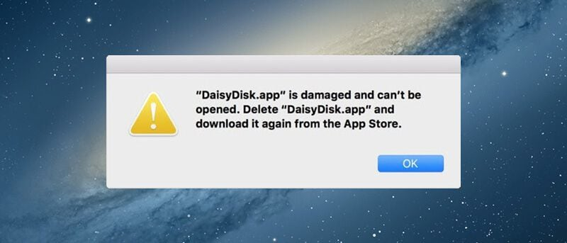 apps are damaged