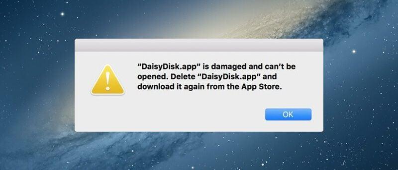 le app sono danneggiate