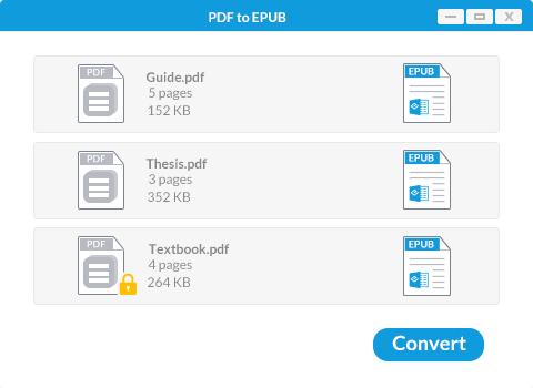 convert pdf to epub on windows