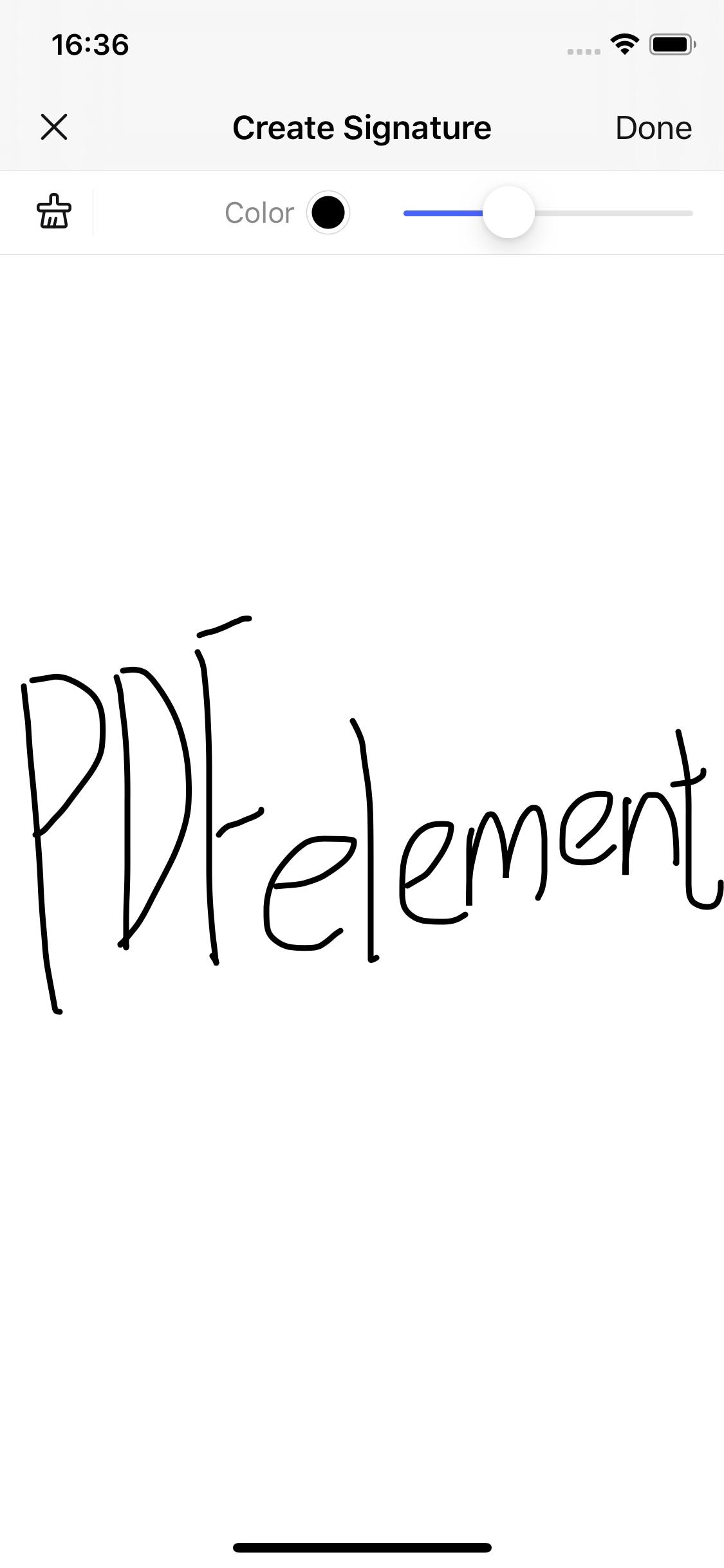 pdf unterzeichnen iOS 10