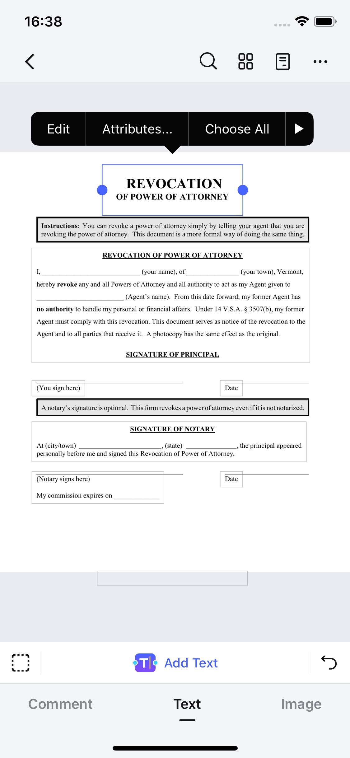 edit text in pdf on ios