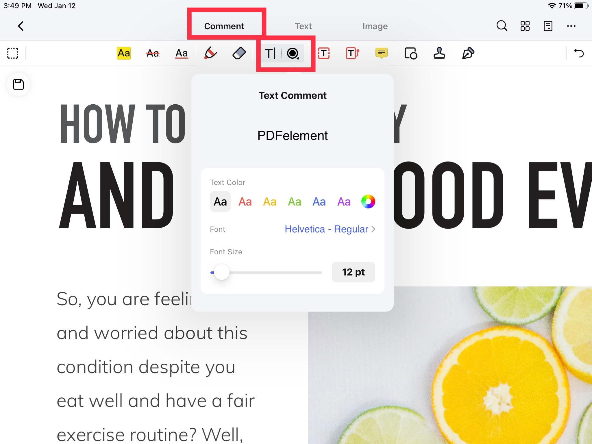 comment tools