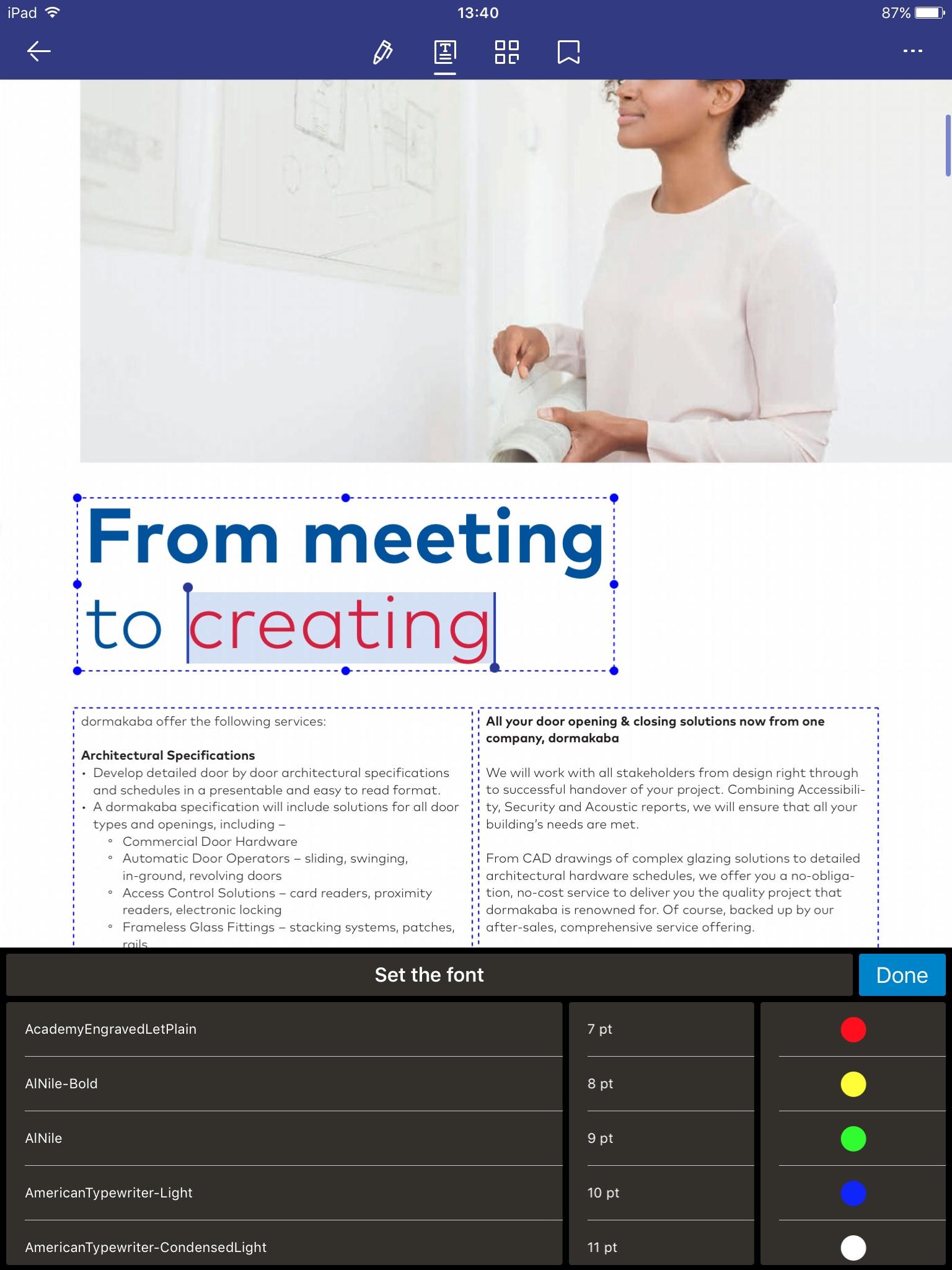 marcatura pdf su ipad