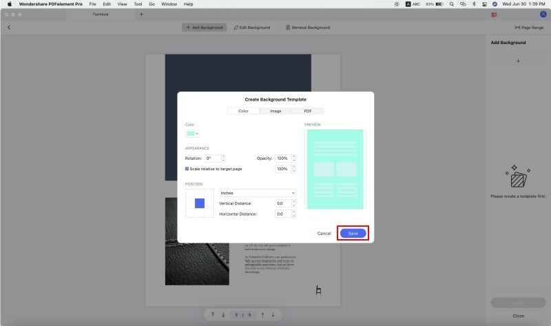 add background to pdf on mac