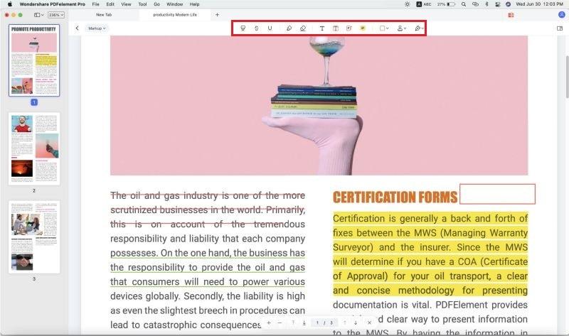 pdf markup mac