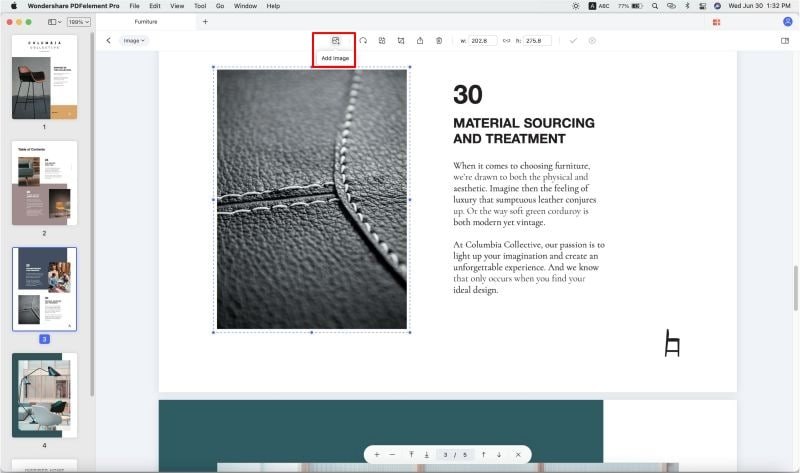 insert picture in pdf mac