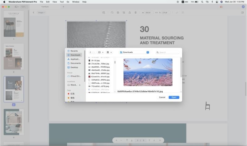 insert picture into pdf mac