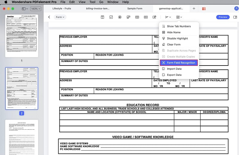 form creator for mac