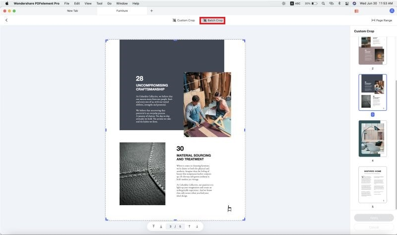 how to crop pdf on mac