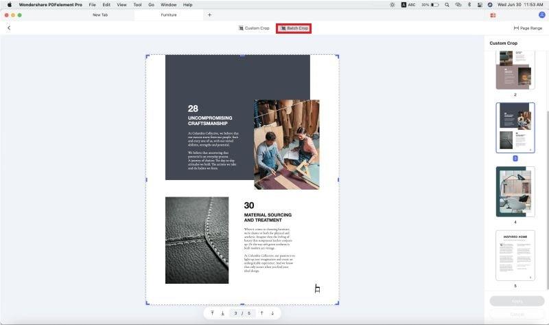 cómo recortar PDF en mac