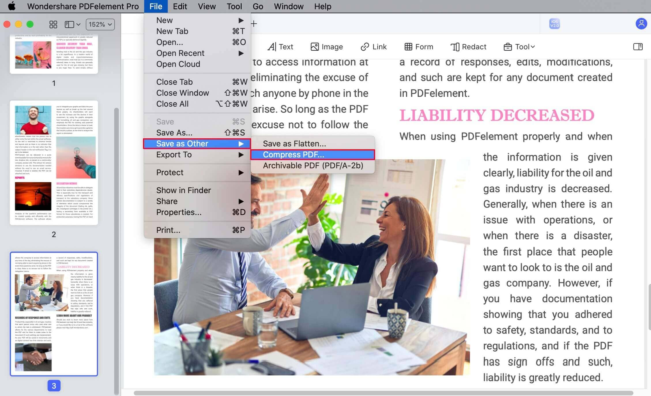 how to make a pdf file smaller on mac
