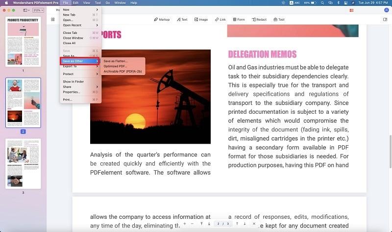 pdf auf mac verflachen