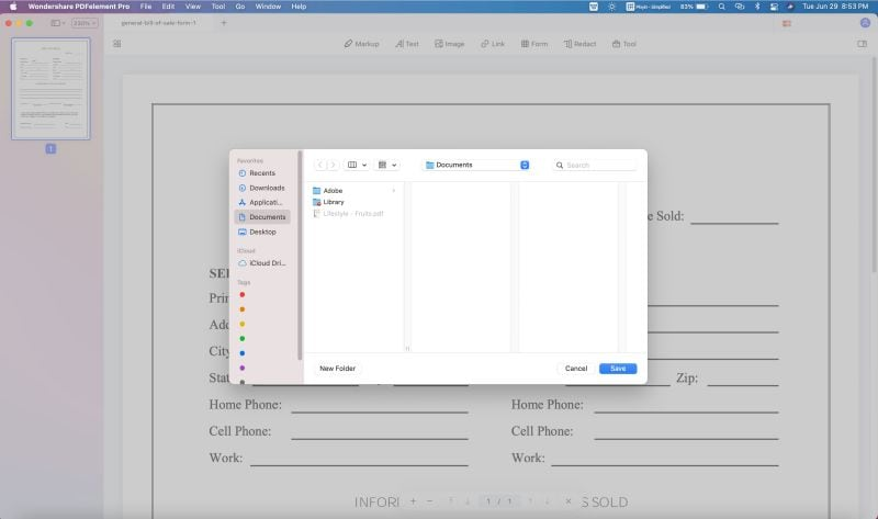 how to export pdf to word on mac