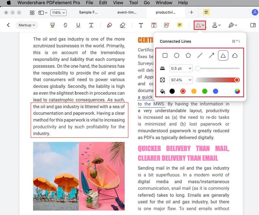 how to draw on pdf mac