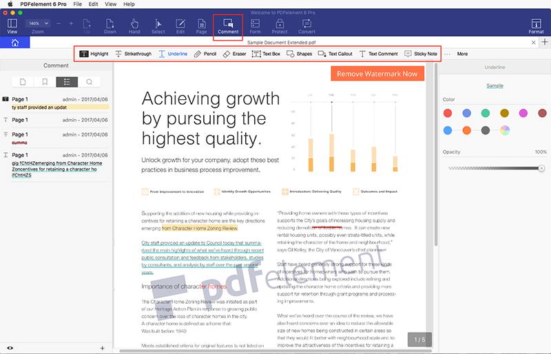 Desenhar em arquivos PDF em Mac