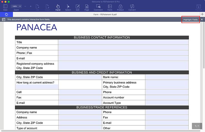 preencher formulários pdf no mac