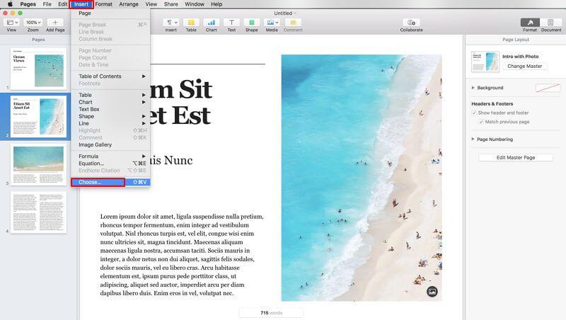 è possibile aprire pdf con pages