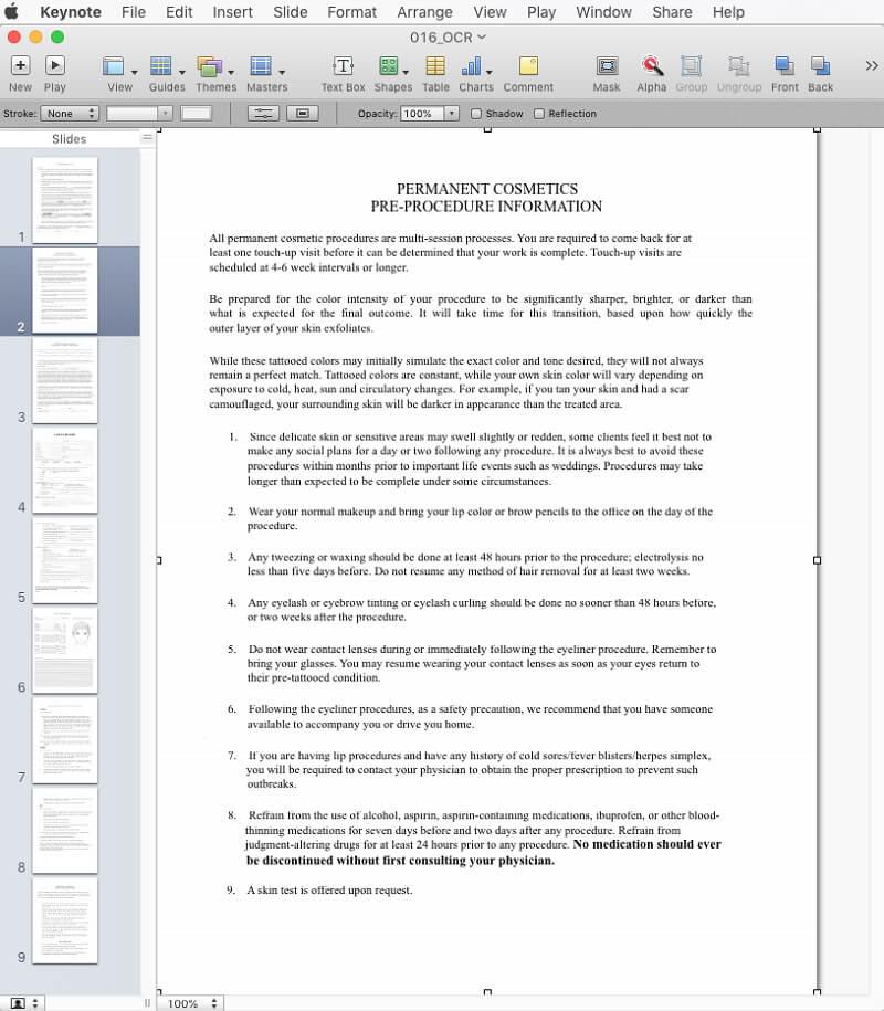 come aprire i pdf in keynote