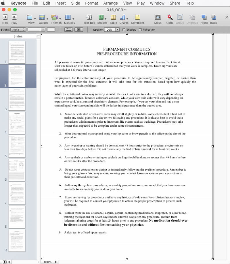 how to open pdf in keynote
