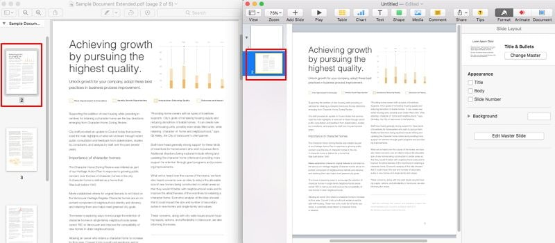 how to convert pdf to keynote on mac