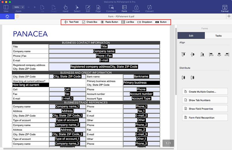 PDF Formular auf Mac erstellen