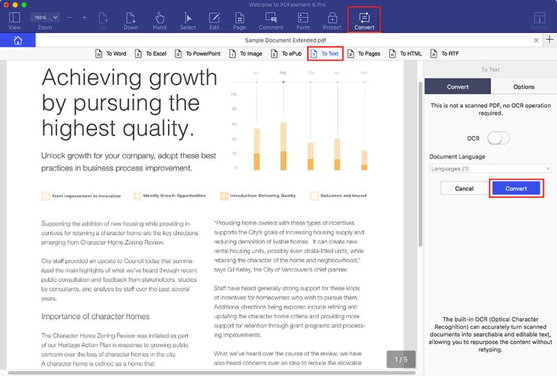 como converter pdf em texto no mac