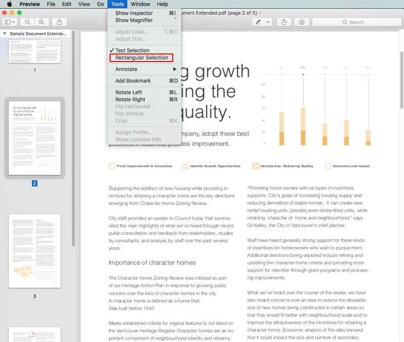 cómo recortar un pdf en mac