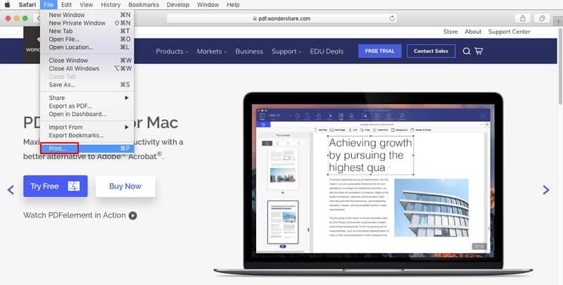 mac html to pdf